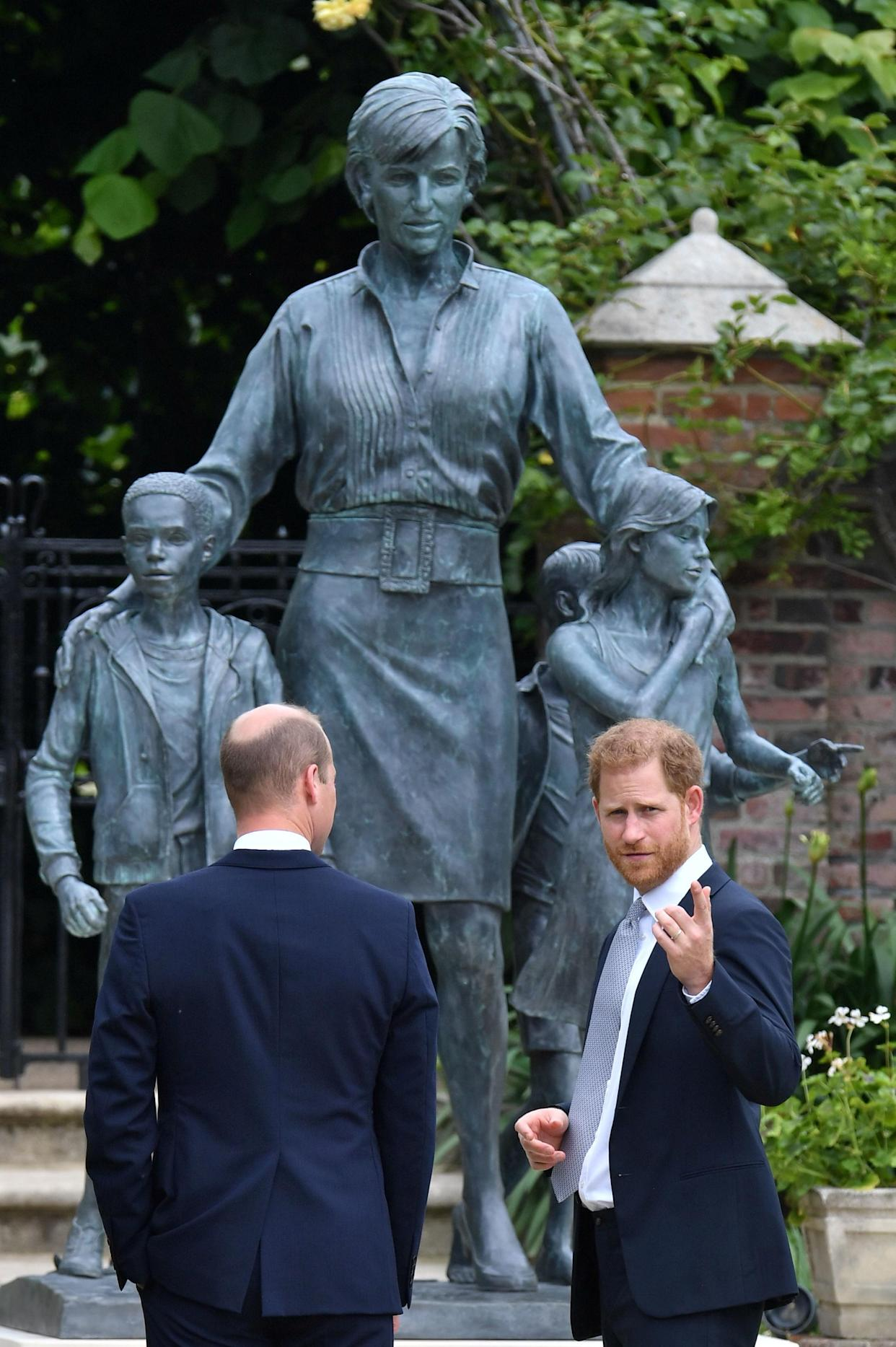 The statue depicts the late princess, who would have turned 60 on July 1. (Photo: Dominic Lipinski/Pool via REUTERS)