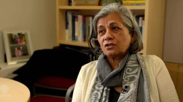 Sen. Ratna Omidvar, shown in 2017, hosts the Moving the Needle on Wicked Problems podcast. She says her audience is steadily growing.