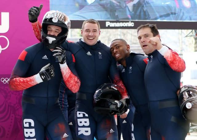 The team after one of their runs in Sochi (Andrew Milligan/PA)