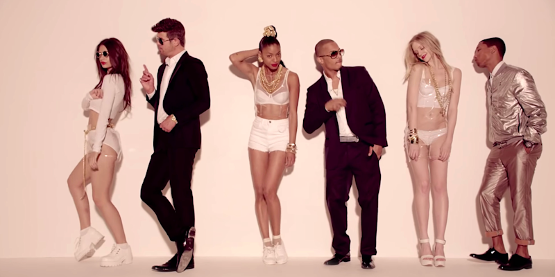 blurred lines music video