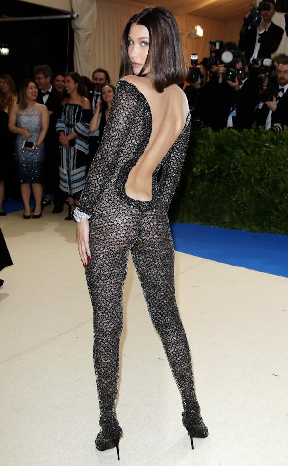 <p>Mandatory Credit: Photo by Matt Baron/BEI/Shutterstock (8770835db) Bella Hadid The Costume Institute Benefit celebrating the opening of Rei Kawakubo/Comme des Garcons: Art of the In-Between, Arrivals, The Metropolitan Museum of Art, New York, USA - 01 May 2017</p>