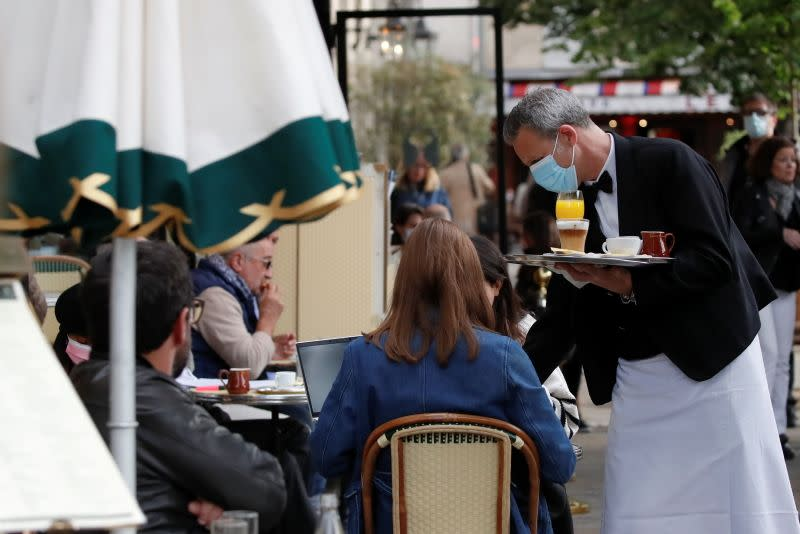 French cafes, bars and restaurants reopen their terraces to customers, in Paris