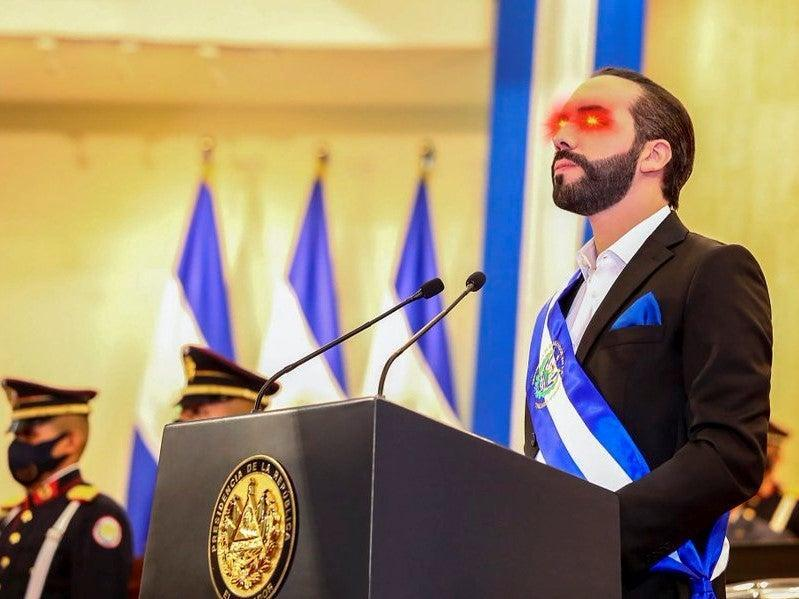 <p>El Salvador President Nayib Bukele updated his Twitter profile pic to include bitcoin laser eyes on 6 June, 2021</p> (Twitter/ Nayib Bukele)