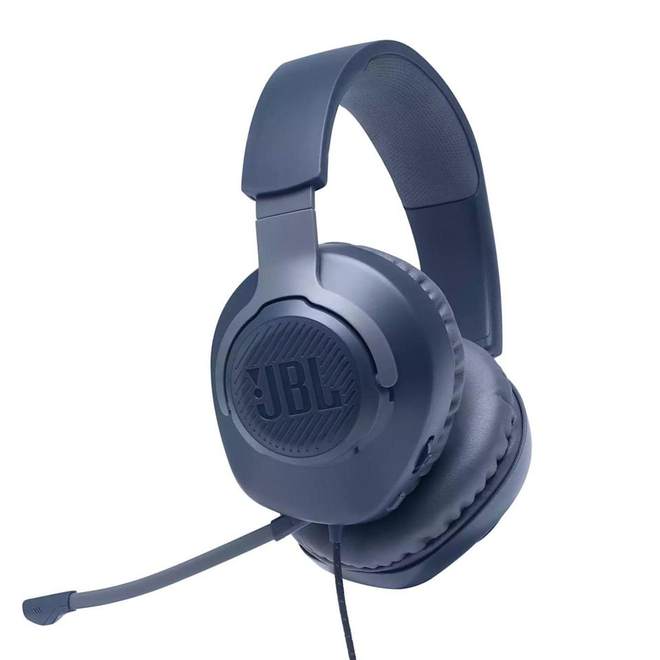 "<p><strong>JBL</strong></p><p>amazon.com</p><p><strong>$39.95</strong></p><p><a href=""https://www.amazon.com/dp/B084D1BVKR?tag=syn-yahoo-20&ascsubtag=%5Bartid%7C2089.g.32926760%5Bsrc%7Cyahoo-us"" rel=""nofollow noopener"" target=""_blank"" data-ylk=""slk:Shop Now"" class=""link rapid-noclick-resp"">Shop Now</a></p><p>JBL's Quantum 100 headphones are an excellent gift for gamers, as well as the work-from-home crowd. Available in black, white, and blue, the wired over-ear cans have a nicely understated design, a remarkably lightweight and comfy fit, and a detachable microphone that's great for in-game trash talk, as well as for making calls.</p><p>Powered by 40-millimeter audio drivers, the Quantum 100 headphones deliver signature JBL sound that's guaranteed to appeal to just about everyone. The cans are an excellent option not just for gaming and making calls, but also for rocking out.</p><p><strong>More: </strong><a href=""https://www.bestproducts.com/tech/gadgets/g32433162/headphones-earbuds-for-work/"" rel=""nofollow noopener"" target=""_blank"" data-ylk=""slk:Headphones and Earbuds for Work We Like"" class=""link rapid-noclick-resp"">Headphones and Earbuds for Work We Like</a></p>"