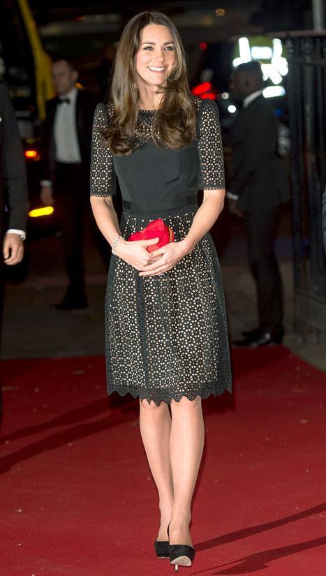 Kate Middleton Looks Beautiful in Little Black Dress at SportsAid Charity Dinner