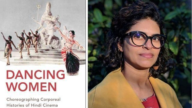 (Right) Usha Iyer and the cover of her latest book Dancing Women: Choreographing Corporeal Histories of Hindi Cinema.