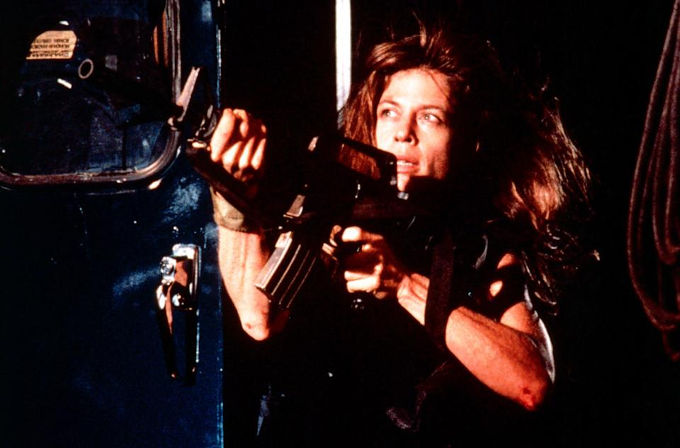 Linda Hamilton as Sarah Connor in <i>Terminator 2: Judgment Day</i>. (Photo: TriStar Pictures/Courtesy of Everett Collection)