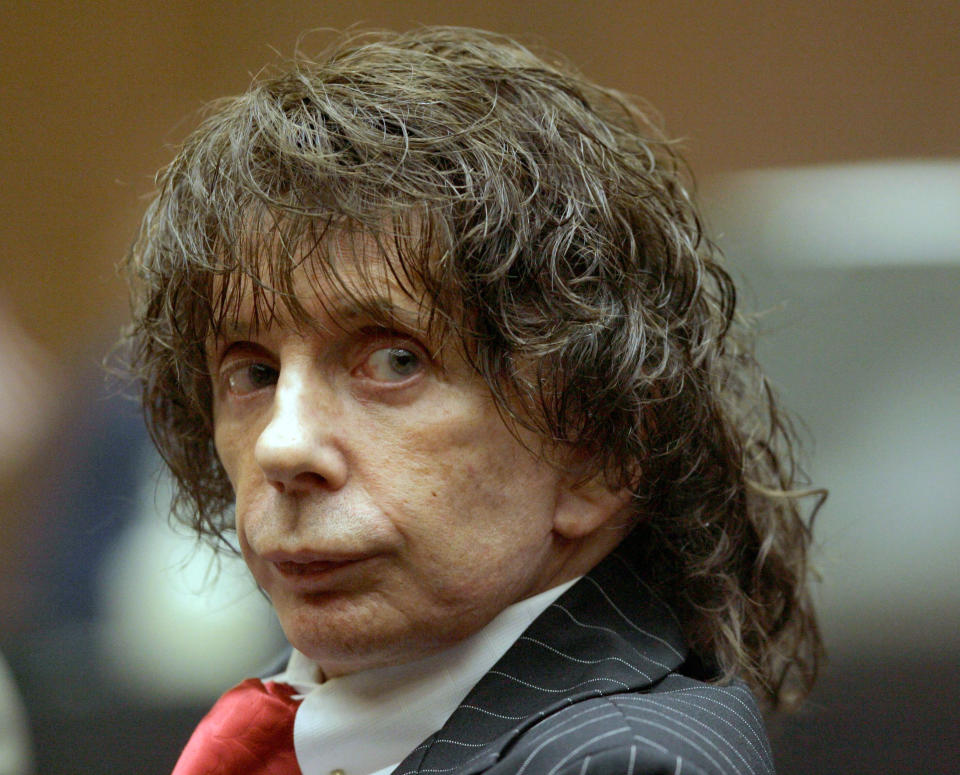 File photo shows music producer Phil Spector during a hearing in Los Angeles County Superior Court in 2008. Source: AP