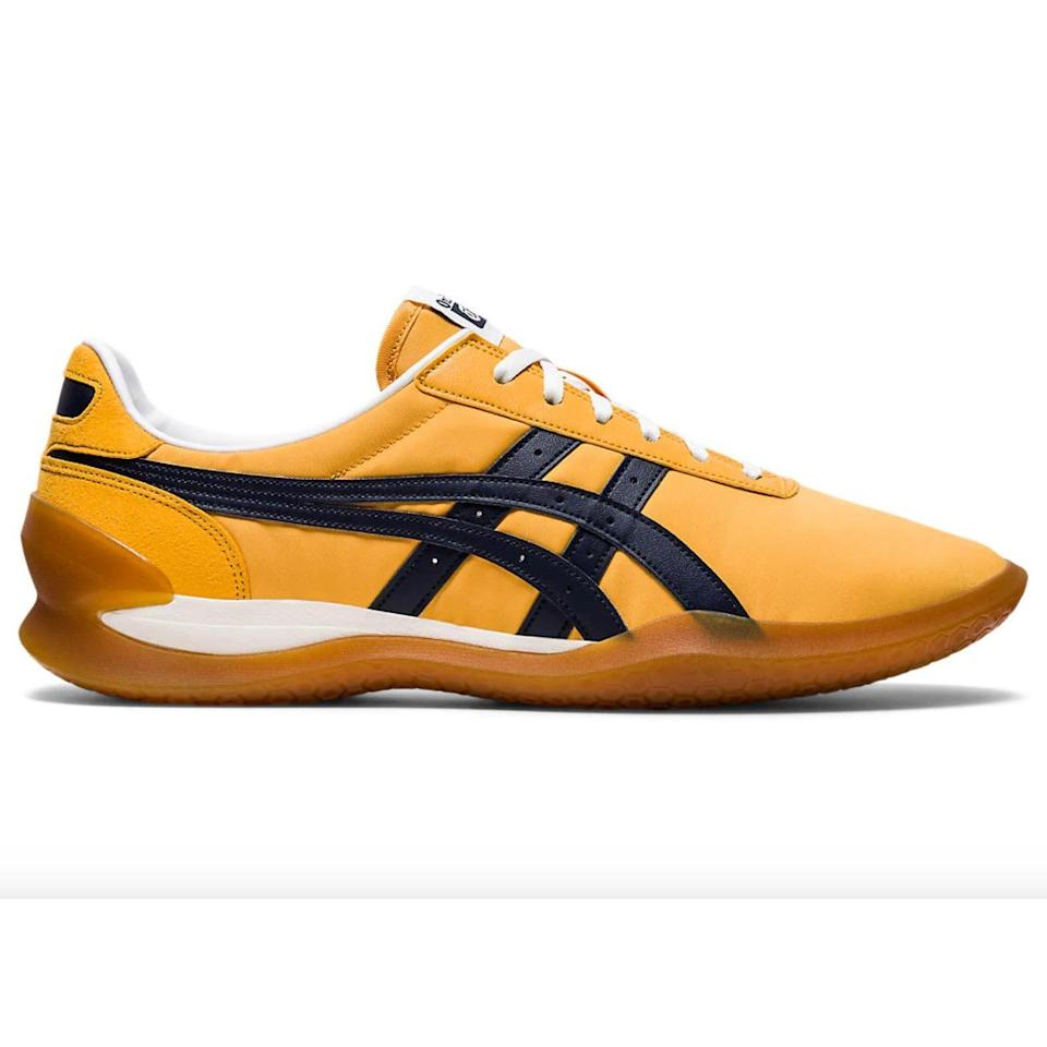 """<p><strong>Onitsuka Tiger</strong></p><p>onitsukatiger.com</p><p><strong>$120.00</strong></p><p><a href=""""https://www.onitsukatiger.com/us/en-us/ohbori-ex/p/ANA_1183A806-750.html"""" rel=""""nofollow noopener"""" target=""""_blank"""" data-ylk=""""slk:Shop Now"""" class=""""link rapid-noclick-resp"""">Shop Now</a></p><p>Yellow Onitsuka Tigers: Good enough for Uma, and good enough for the rest of us, too.</p>"""