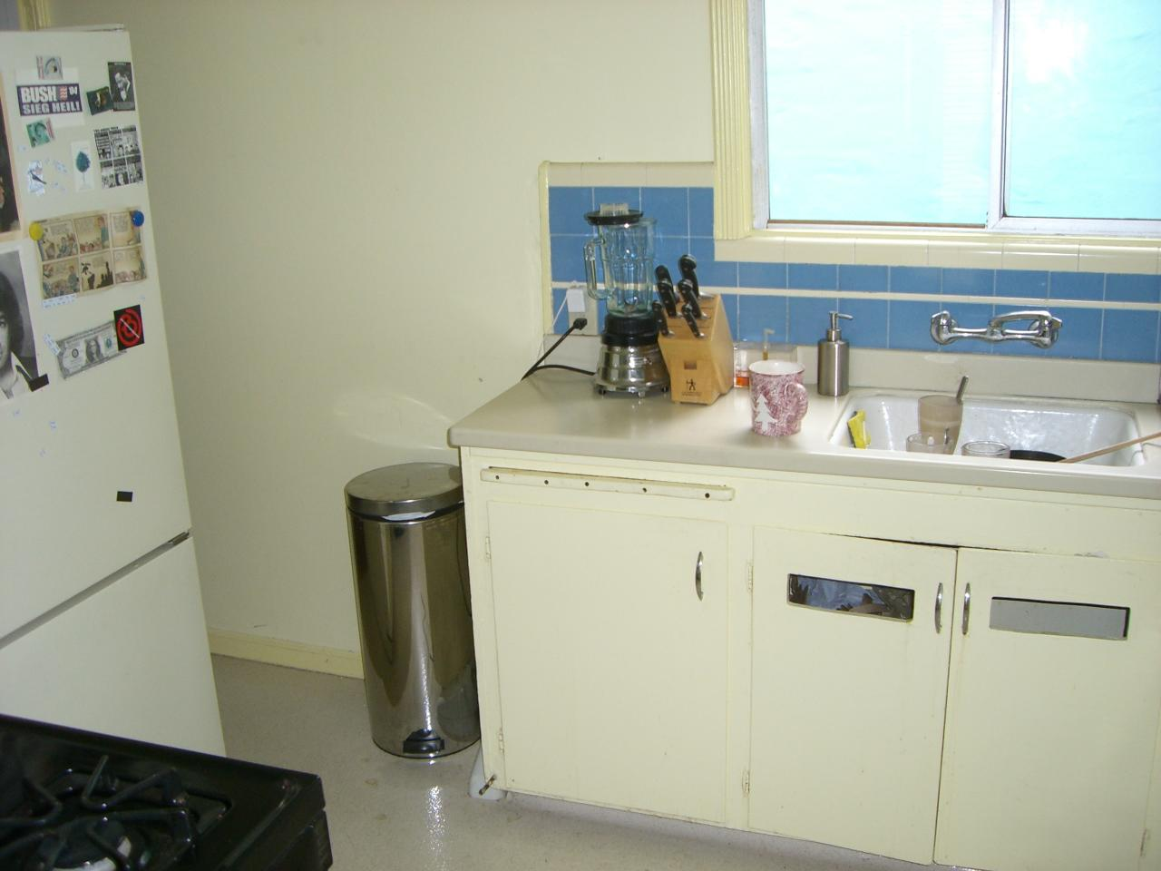 The kitchen when Medine bought the house, as it was in 1945.