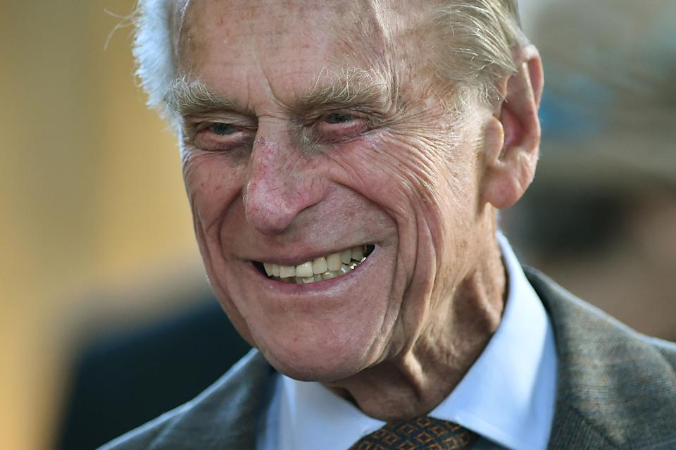 File photo dated 09/04/14 of the Duke of Edinburgh smiles as he meets members of the Royal College of Organists during a visit to commemorate the RCO's 150th anniversary at St George's Chapel at Windsor Castle. The Duke of Edinburgh has died, Buckingham Palace has announced. Issue date: Friday April 9, 2020.. See PA story DEATH Philip. Photo credit should read: Ben Stansall/PA Wire