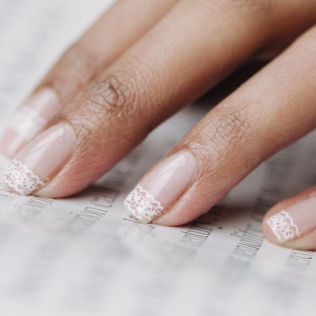 "<p>This bridal-inspired lace nail art gives a fresh take on the classic white french tip. </p><p><a href=""https://www.instagram.com/p/BwgwRHPhQ9v/"" rel=""nofollow noopener"" target=""_blank"" data-ylk=""slk:See the original post on Instagram"" class=""link rapid-noclick-resp"">See the original post on Instagram</a></p>"