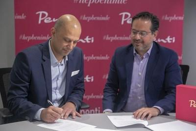 My Size CEO Ronen Luzon and Penti Giyim's CEO Mert Karaibrahimoğlu sign licensing agreement for MySizeID