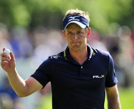 "Luke Donald thanks the crowd on the 15th green during the PGA Championship on May 27. ""Justin [Rose] has the game to win the US Open,"" Donald told reporters after successfully defending Europe's most prestigious title"