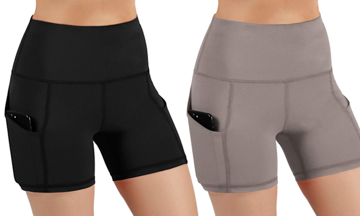 Ododos High Waist Tummy Control Yoga Short are best-sellers on Amazon with over 1,700 near-perfect reviews. (Photo: Amazon)