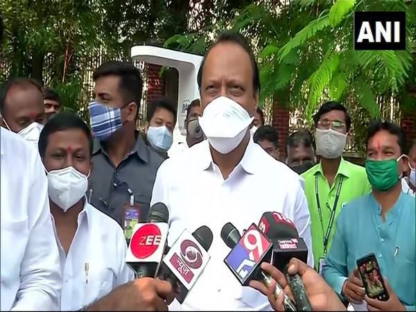 Maharashtra Deputy Chief Minister speaking to reporters in Pune on Saturday [Photo/ANI]