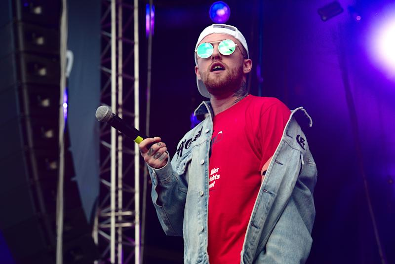 Mac Miller on stage.