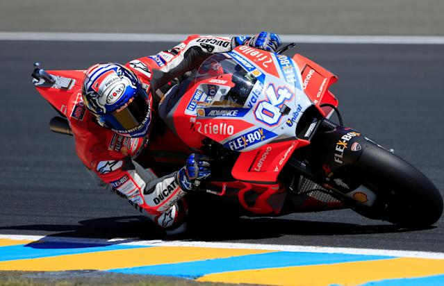 Motorcycling - MotoGP - French Grand Prix - Bugatti Circuit, Le Mans, France - May 19, 2018 Ducati Corse's Andrea Dovizioso during practice REUTERS/Gonzalo Fuentes