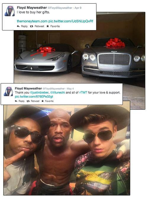 Photos and tweets from Floyd Mayweather