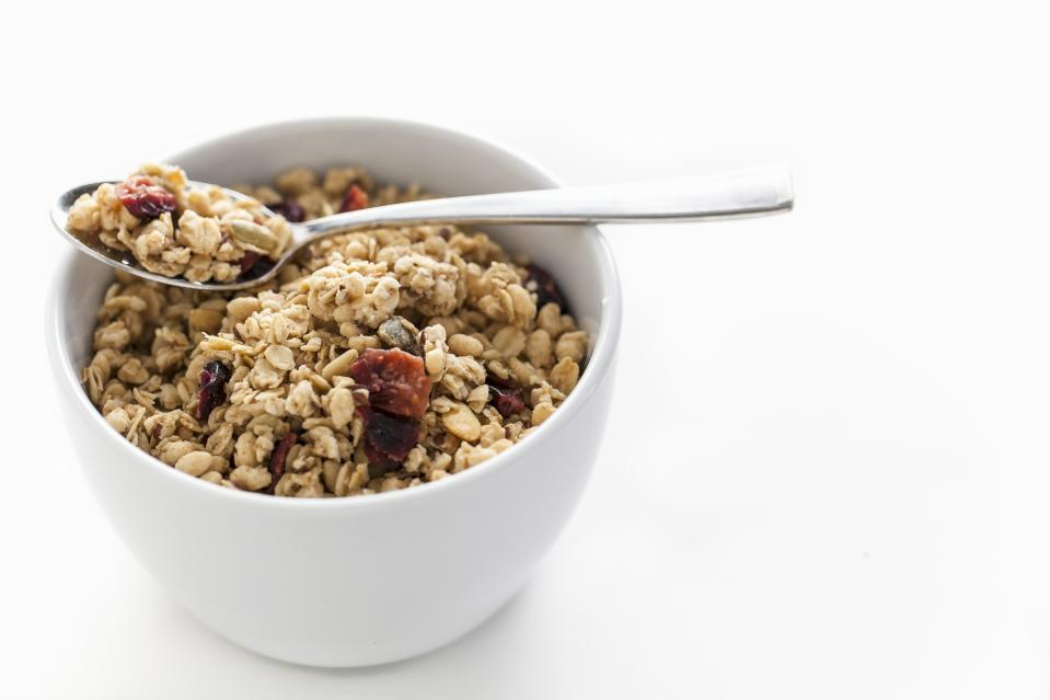 Bowl of Granola with Dried Fruit