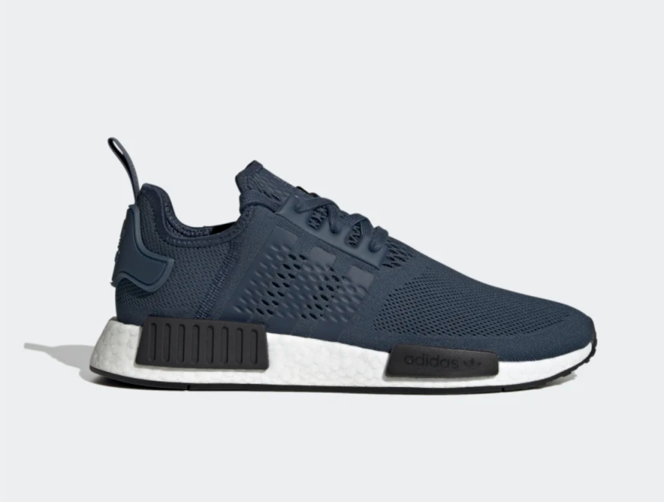 NMD_R1 Shoes in Crew Navy (Photo via Adidas)