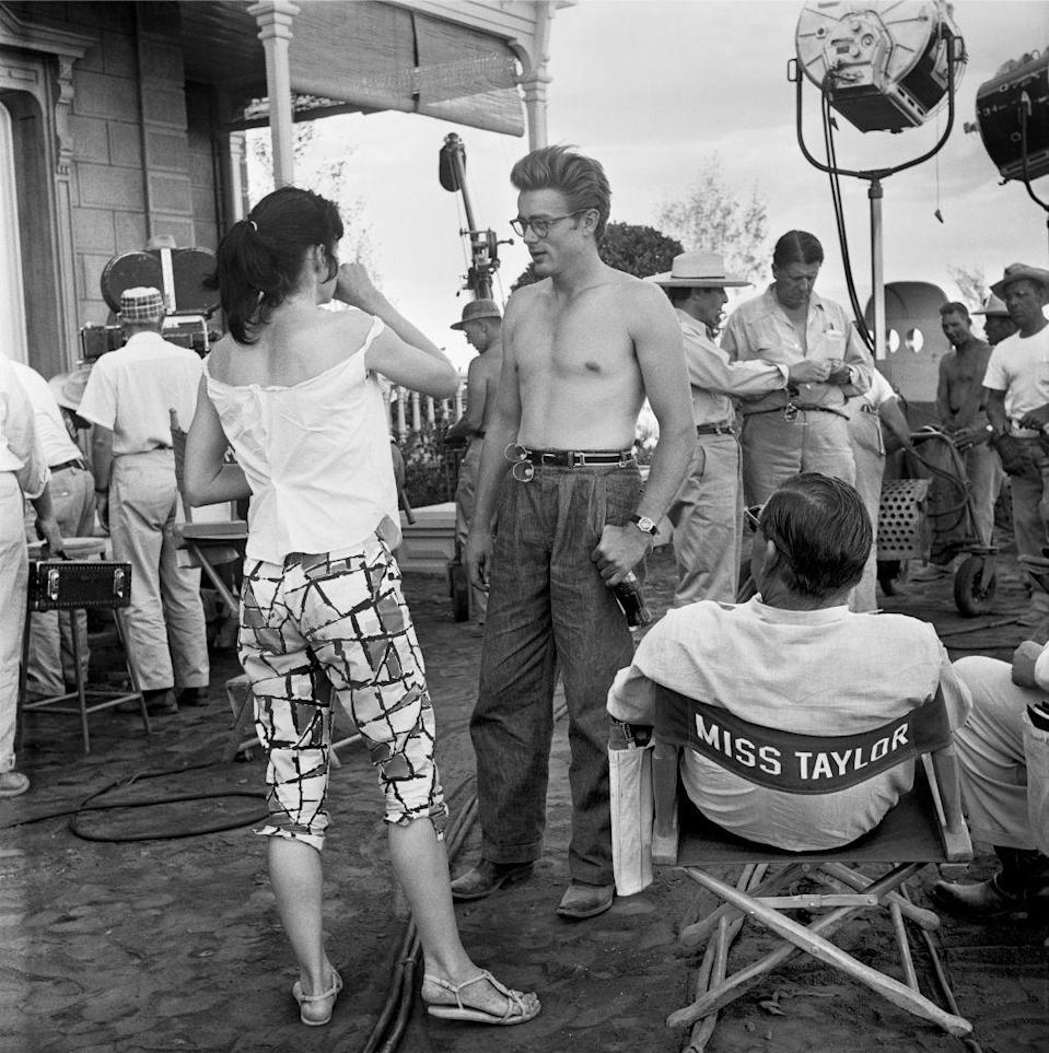 <p>The actor shot <em>Giant</em> in Marfa, Texas alongside costars Elizabeth Taylor and Rock Hudson. </p>