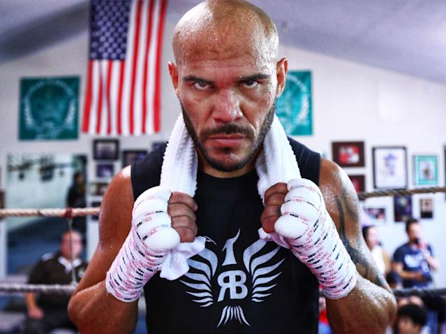 WBO lightweight champion Raymundo Beltran will make his first title defense Saturday on ESPN at Gila River Arena in Glendale, Arizona, against Jose Pedraza. (Mikey Willams/Top Rank)
