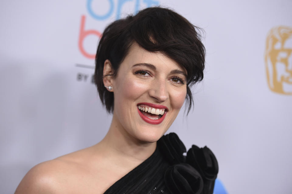 Phoebe Waller-Bridge arrives at the BAFTA Los Angeles Britannia Awards at the Beverly Hilton Hotel on Friday, Oct. 25, 2019, in Beverly Hills, Calif. (Photo by Jordan Strauss/Invision/AP)