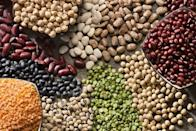 "<p>We're talking about <a href=""https://www.prevention.com/food-nutrition/a20501372/lentils-recipes/"" rel=""nofollow noopener"" target=""_blank"" data-ylk=""slk:lentils"" class=""link rapid-noclick-resp"">lentils</a>, <a href=""https://www.prevention.com/food-nutrition/g20464786/10-healthy-chickpea-recipes/?slide=1"" rel=""nofollow noopener"" target=""_blank"" data-ylk=""slk:chickpeas"" class=""link rapid-noclick-resp"">chickpeas</a>, and all sorts of <a href=""https://www.prevention.com/food-nutrition/healthy-eating/g20502940/bean-soup-recipes/"" rel=""nofollow noopener"" target=""_blank"" data-ylk=""slk:beans"" class=""link rapid-noclick-resp"">beans</a>. ""Legumes are rich in many vitamins like our B vitamins, as well as fiber and protein,"" says Calabrese. ""<a href=""https://academic.oup.com/ajcn/article/103/5/1213/4569588"" rel=""nofollow noopener"" target=""_blank"" data-ylk=""slk:Studies"" class=""link rapid-noclick-resp"">Studies</a> have also shown that eating beans and legumes regularly may help aid healthy weight management or weight loss.""</p>"