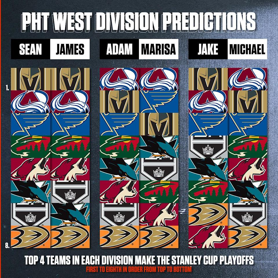 nhl west predictions