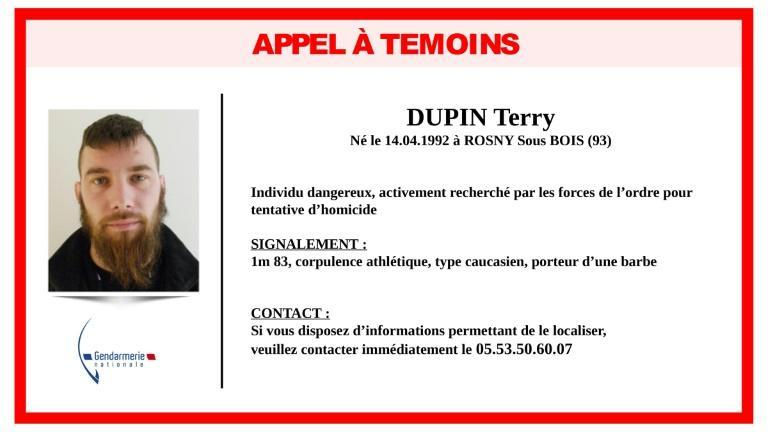 Police released a wanted photo of Terry Dupin on Monday.