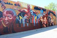 """<p><strong>Kansas Avenue of Murals</strong></p><p>For art lovers, <a href=""""https://www.visitkansascityks.com/listing/downtown-kansas-city-ks-avenue-of-murals/307/"""" rel=""""nofollow noopener"""" target=""""_blank"""" data-ylk=""""slk:Kansas Avenue of Murals"""" class=""""link rapid-noclick-resp"""">Kansas Avenue of Murals</a> displays the city's best art. The eight murals cover four blocks in the historic downtown area tell stories of the culture and history of Kansas City.</p>"""
