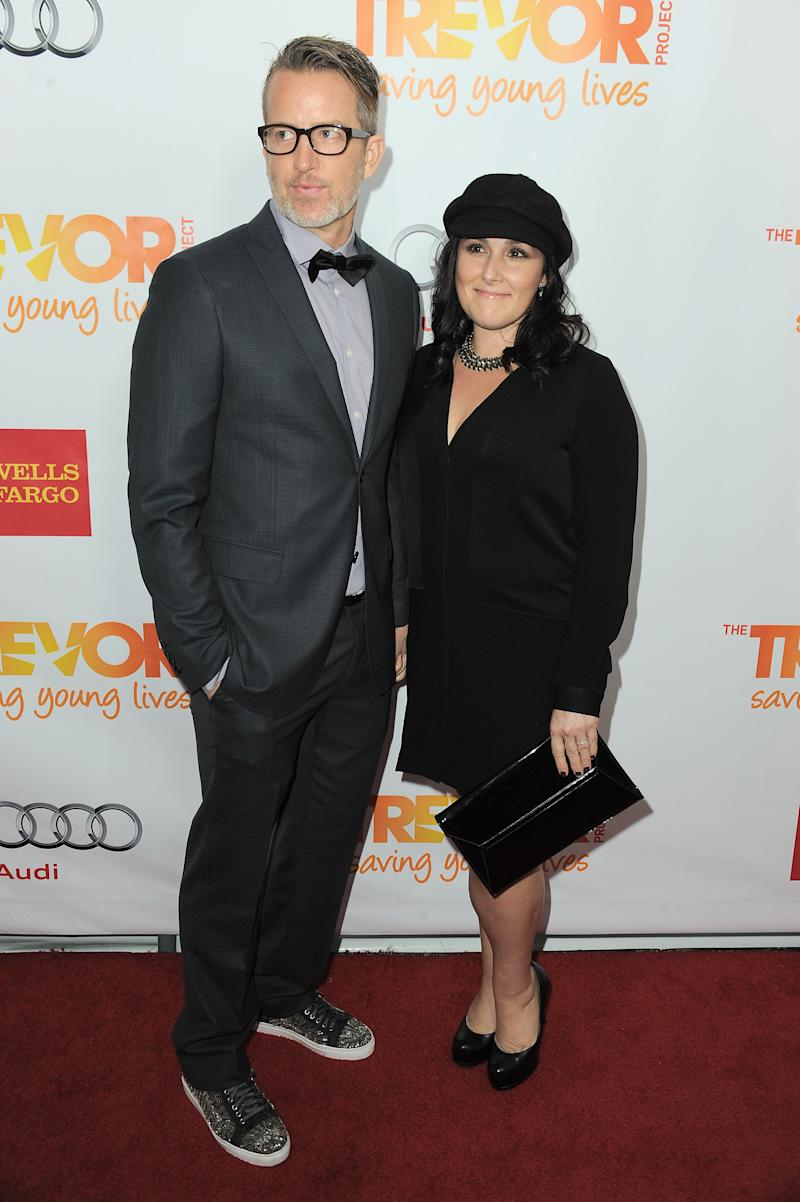Ricki Lake (R) and Christian Evans arrive at Trevor Live at the Hollywood Palladium on Sunday, Dec. 2, 2012, in Los Angeles. (Photo by Jordan Strauss/Invision/AP)