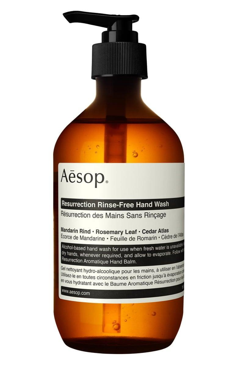<p>This luxe <span>Aesop Resurrection Rinse-Free Hand Wash</span> ($47) is the ultimate gift this season.</p>