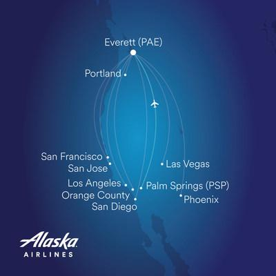 Palm Springs becomes the ninth destination served by Alaska Airlines at Paine Field in Everett.