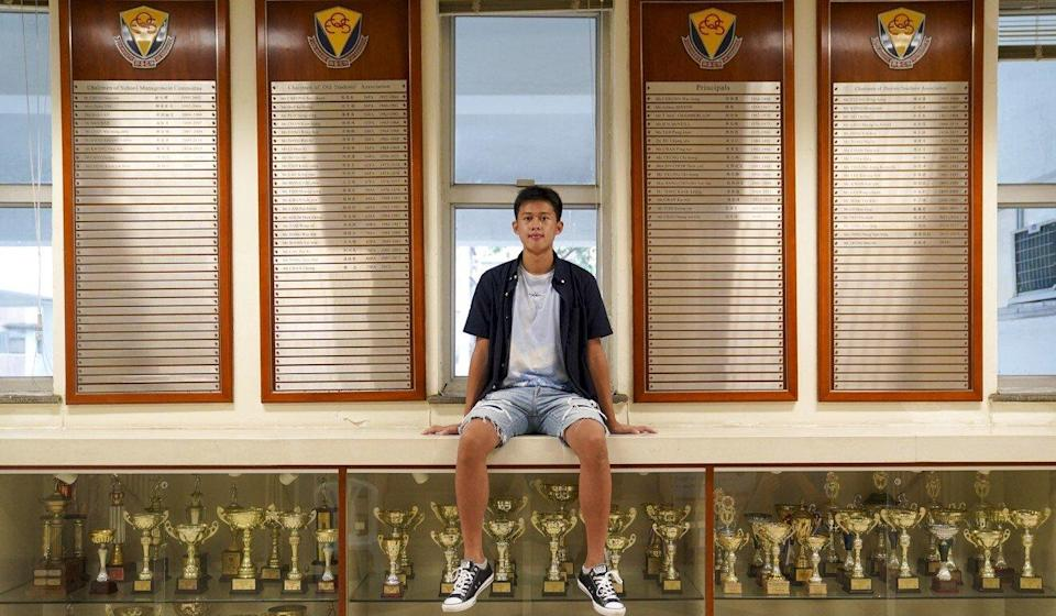 Martin Leung, of Queen Elizabeth School in Mong Kok, was one of seven students to achieve a perfect score in this year's DSE. Photo: Sam Tsang
