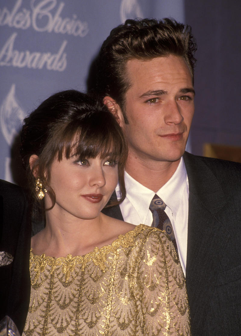 Shannen Doherty was shocked when her friend and colleague Luke Perry died. (Photo by Ron Galella/Ron Galella Collection via Getty Images)