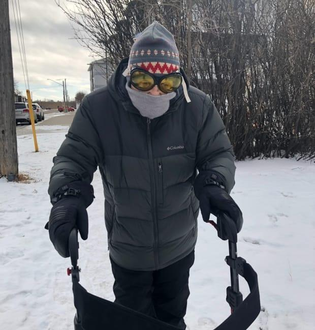 Alex Miles decided to do something after feeling discouraged about being separated from his wife of 65 years due to pandemic restrictions. He decided to go walking and now walks about a mile a day.