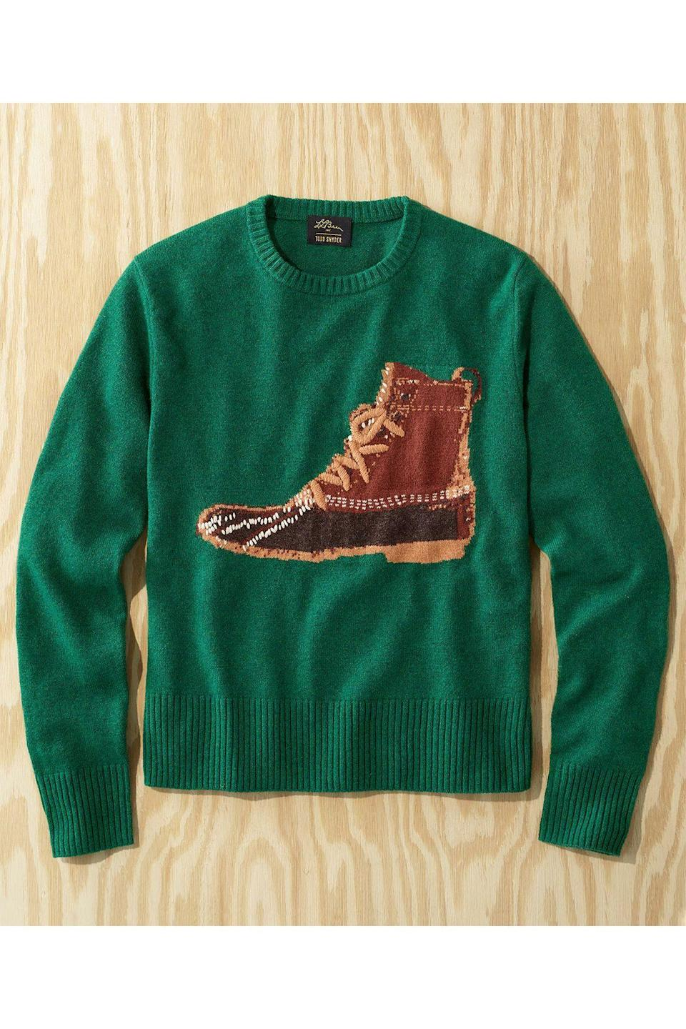 """<p><strong>L.L.Bean x Todd Snyder</strong></p><p>toddsnyder.com</p><p><strong>$199.00</strong></p><p><a href=""""https://go.redirectingat.com?id=74968X1596630&url=https%3A%2F%2Fwww.toddsnyder.com%2Fcollections%2Fl-l-bean-x-todd-snyder-one%2Fproducts%2Fllb-x-ts-heritage-crew-sweater-green-1&sref=https%3A%2F%2Fwww.townandcountrymag.com%2Fstyle%2Fmens-fashion%2Fg34524507%2Ftodd-snyder-and-ll-bean-collaboration%2F"""" rel=""""nofollow noopener"""" target=""""_blank"""" data-ylk=""""slk:Shop Now"""" class=""""link rapid-noclick-resp"""">Shop Now</a></p>"""