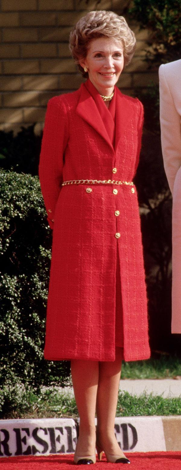 "<div class=""caption-credit""> Photo by: Getty Images</div><div class=""caption-title"">Nancy Reagan</div>Style notes: Is there anything more stylish than having a signature color? <br> <br> <b>Read More: <a href=""http://www.harpersbazaar.com/fashion/fashion-articles/famous-friends-in-fashion?link=emb&dom=yah_life&src=syn&con=blog_blog_hbz&mag=harr"" rel=""nofollow noopener"" target=""_blank"" data-ylk=""slk:Famous Supermodels Who Are Best Friends"" class=""link rapid-noclick-resp"">Famous Supermodels Who Are Best Friends</a></b> <br>"