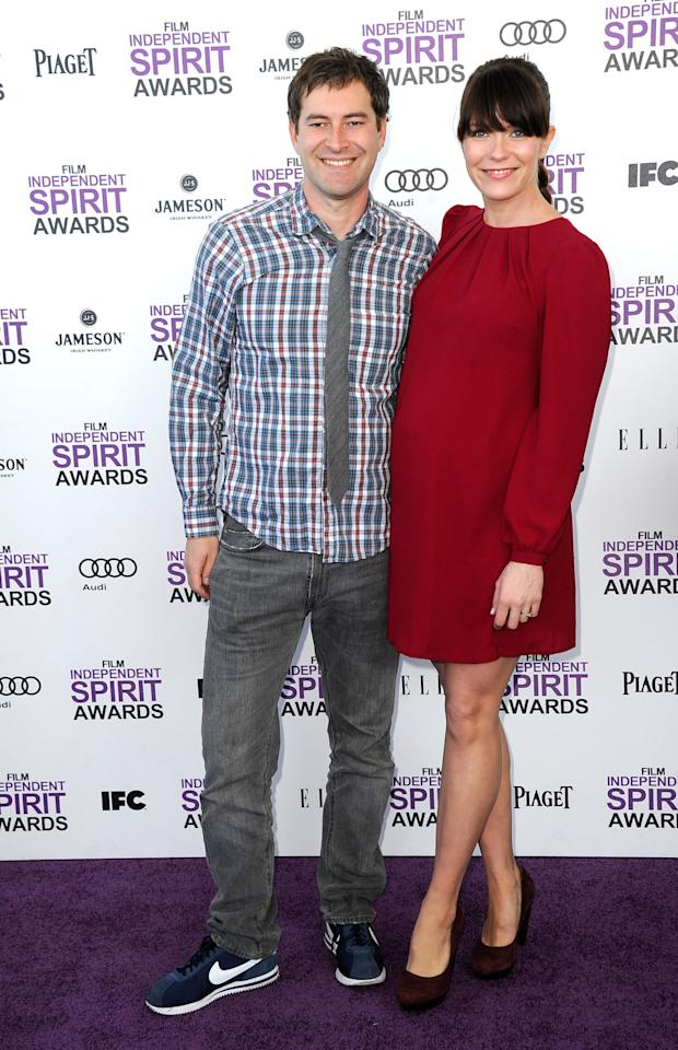 SANTA MONICA, CA - FEBRUARY 25:  Actors Mark Duplass and Katie Aselton arrive at the 2012 Film Independent Spirit Awards on February 25, 2012 in Santa Monica, California.  (Photo by Frazer Harrison/Getty Images)