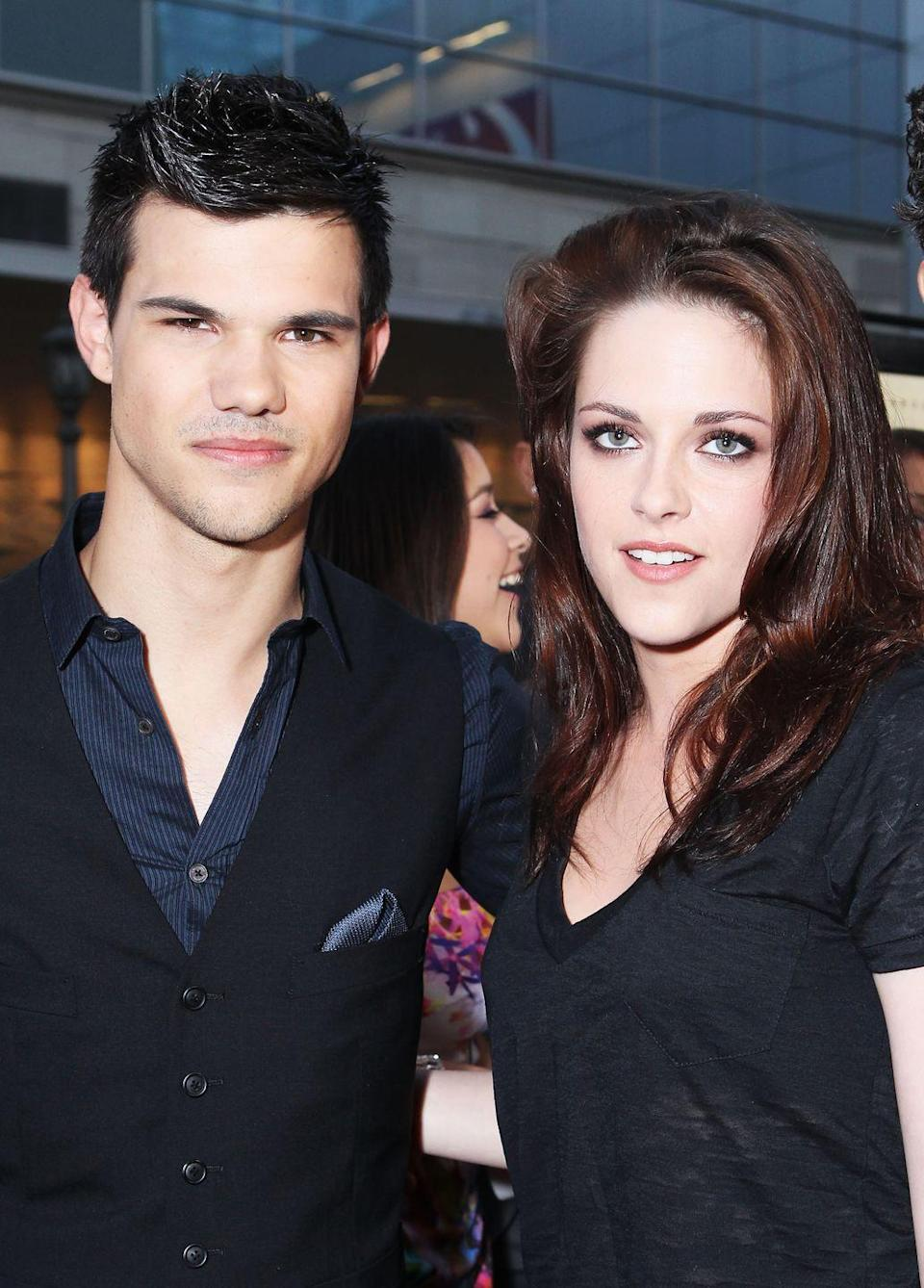 "<p>Shockingly enough, Kristen Stewart found it hard to kiss Taylor Lautner while filming <em>Eclipse,</em> the third movie in the <em>Twilight </em>saga.</p><p>""One of the most challenging scenes was probably finally kissing Jacob for the first time,"" Kristen admitted to <a href=""https://parade.com/28190/jeannewolf/0616-kirsten-stewart-eclipse/"" rel=""nofollow noopener"" target=""_blank"" data-ylk=""slk:Parade"" class=""link rapid-noclick-resp""><em>Parade</em></a>. ""Bella has got such tunnel vision that Edward is the only thing for her. That's a strange perspective. So when Taylor Lautner and I kissed, it felt like such a different dynamic. I was nervous as hell.""</p>"