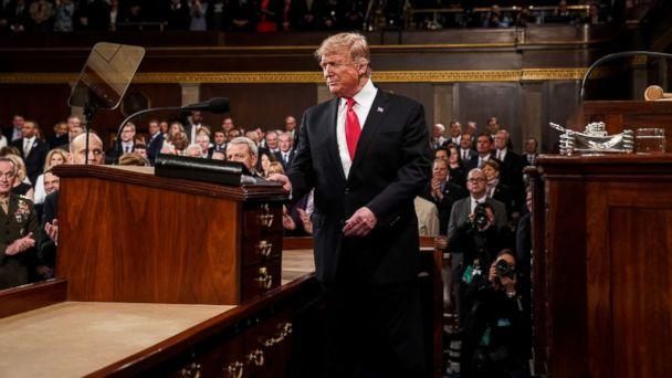 PHOTO: President Donald Trump arrives to deliver the State of the Union address in the U.S. Capitol Building on Feb. 5, 2019, in Washington. (Doug Mills/Pool via Getty Images)