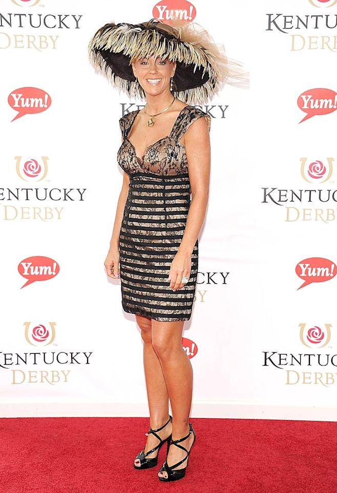"Kate Gosselin definitely made a statement upon arriving at the 137th Kentucky Derby held at Churchill Downs in Louisville, Kentucky, on Saturday. While the mother of eight looked perfectly cute in her black-and-tan lacy frock, her feathery wide-brimmed hat was absolutely ridiculous. Michael Loccisano/<a href=""http://www.gettyimages.com/"" target=""new"">GettyImages.com</a> - May 7, 2011"