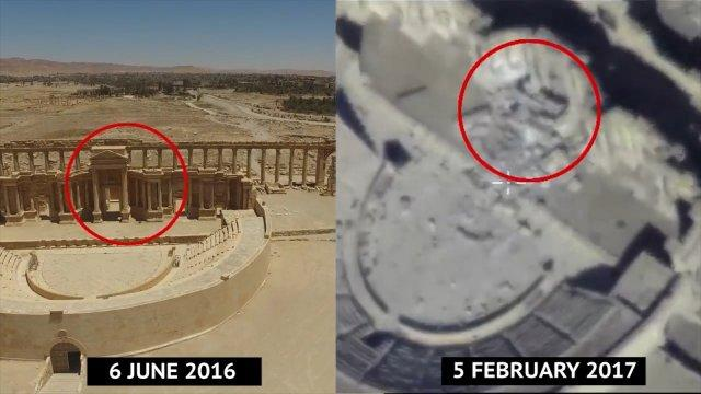 Footage Reportedly Shows Destruction of World Heritage Site In Palmyra