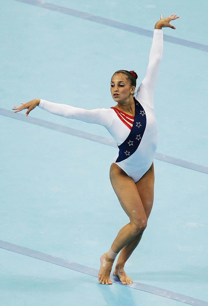 Mohini performing during the floor exercise