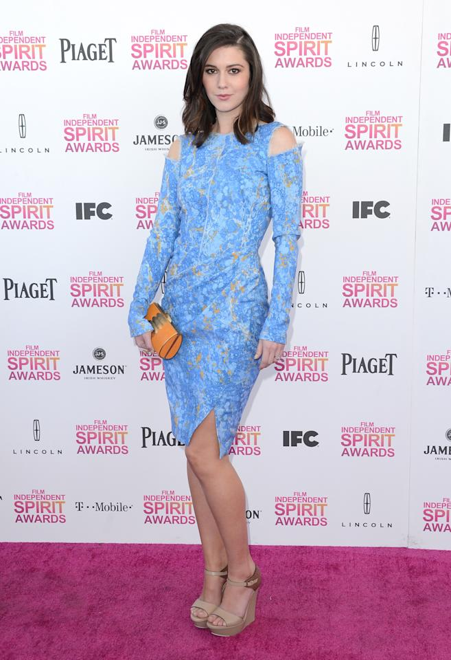 SANTA MONICA, CA - FEBRUARY 23:  Actress Mary Elizabeth Winstead attends the 2013 Film Independent Spirit Awards at Santa Monica Beach on February 23, 2013 in Santa Monica, California.  (Photo by Jason Merritt/Getty Images)