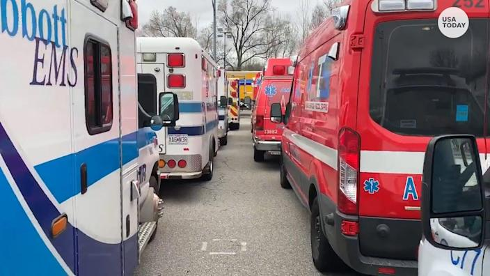 500 EMTs and paramedics travelled to New York City from around the country to join the FDNY on the front lines of the city's response to COVID-19.