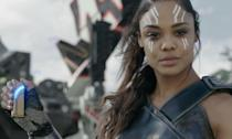 <p><span><strong>Played by:</strong> Tessa Thompson</span><br><span><strong>Last appearance:</strong> <em>Thor: Ragnarok</em></span><br><span><strong>What's she up to?</strong> After getting her revenge on Hela for killing all her fellow Valkyries, Brunnehilde returns to the Asgardian fold. She's on the ship with Thor and Loki when they encounter Thanos' much bigger ride.</span> </p>