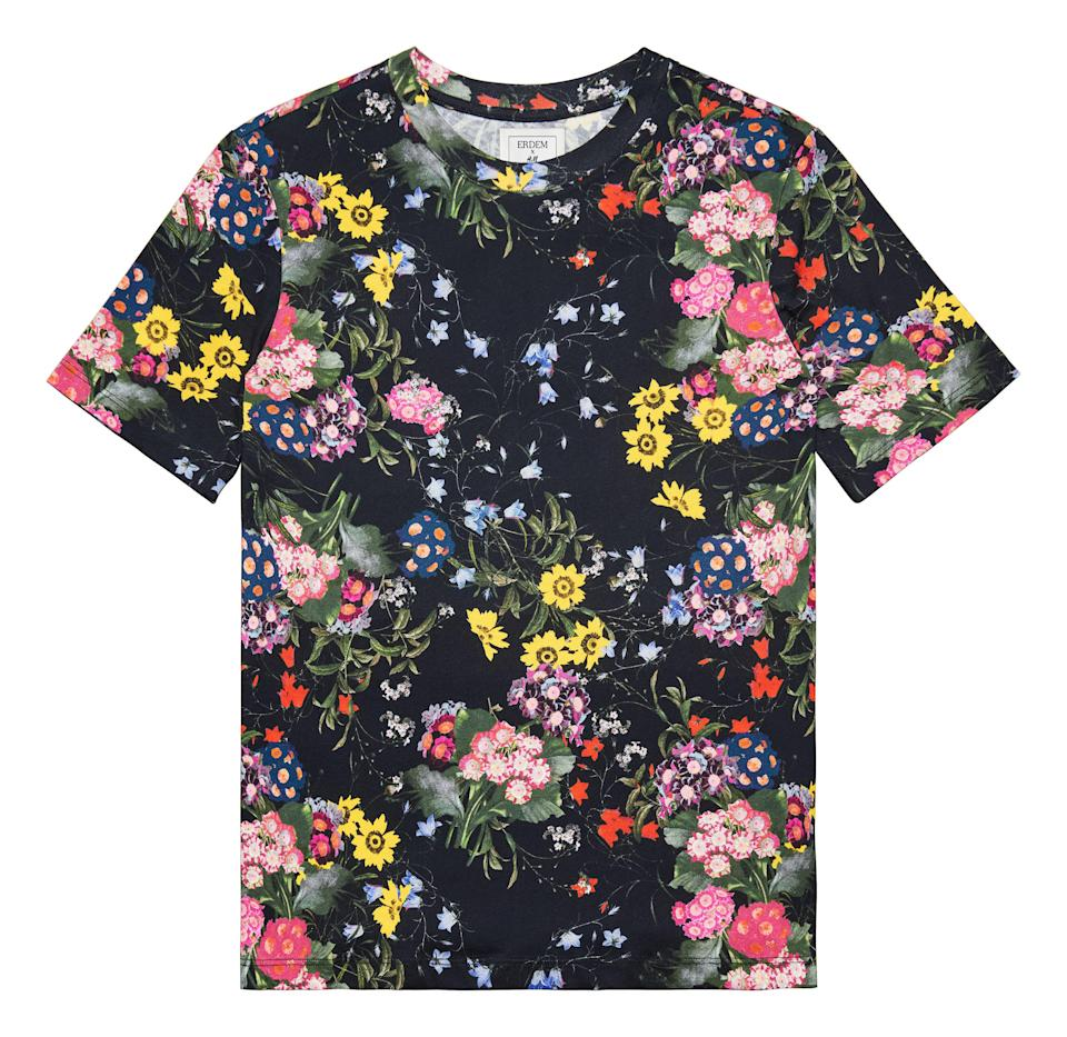 """<p>Who knew athleisure could be worthy of an evening look? We'll be teaming this luxe tee with blue jeans and a checked blazer. This season, it's all about clashing prints. <em><a rel=""""nofollow noopener"""" href=""""http://www2.hm.com/en_gb/index.html"""" target=""""_blank"""" data-ylk=""""slk:H&M"""" class=""""link rapid-noclick-resp"""">H&M</a>, £24.99</em> </p>"""